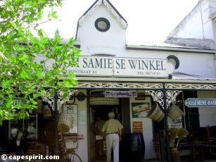 Oom Samie se winkel (uncle Samie's shop) The oldest shop (1904) in Stellenbosch, near Cape Town.