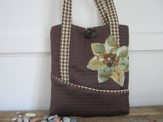 Brown tote Houndstooth tote Green purse by BerkshireCollections, $4800.00