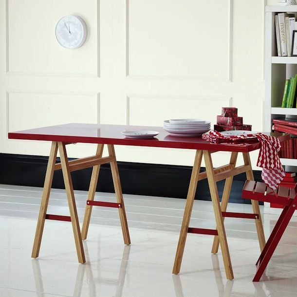 Inspiration for a DIY sawhorse dinner table   Claire Zinnecker for Camille Styles