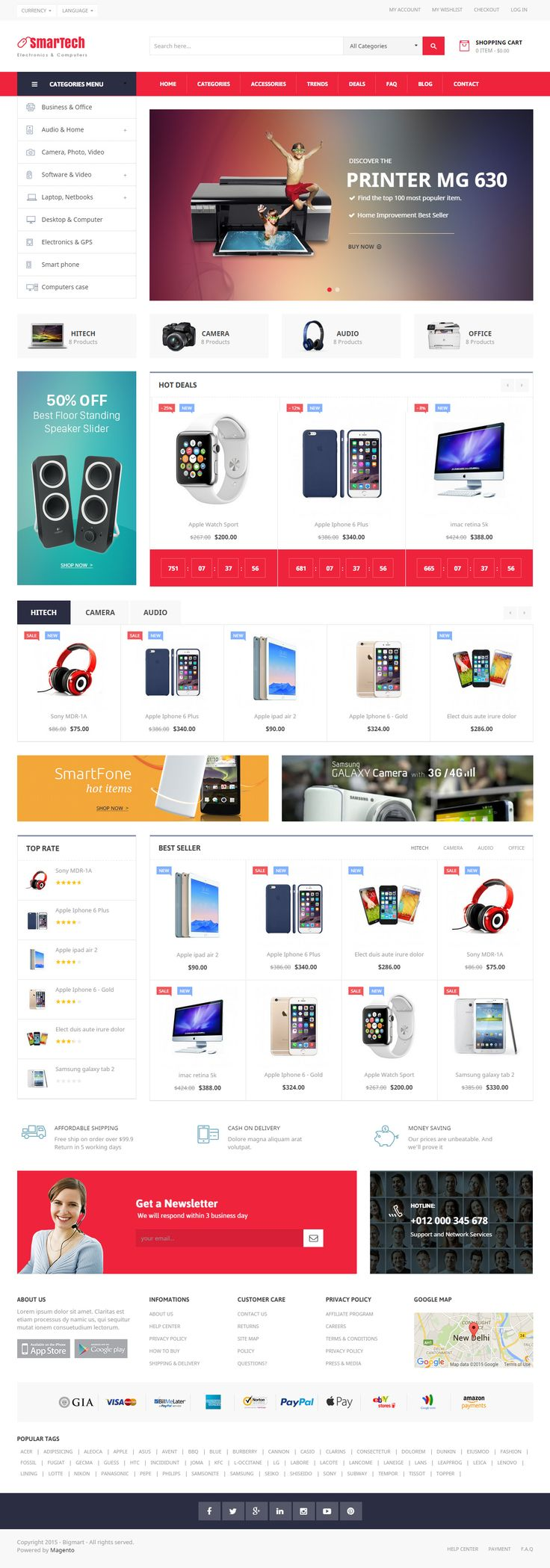 Bigmart is Premium full Responsive #Magento #eCommerce Theme. #Bootstrap3Framework. Drag and Drop Page Builder. Google Fonts. Test free demo at: http://www.responsivemiracle.com/cms/bigmart-premium-responsive-pages-builder-magento-theme/