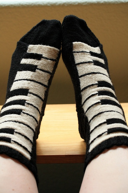 piano socks! Footage make me a pair of these . . . . . . To keep my boots happy!!!!