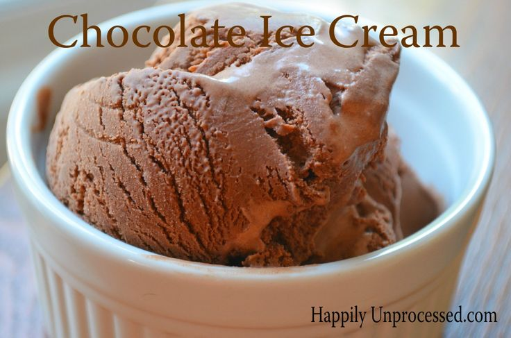 IN a word ...... delish !!!!  Homemade chocolate ice cream.  All ingredients we understand.  www.happilyunprocessed.com