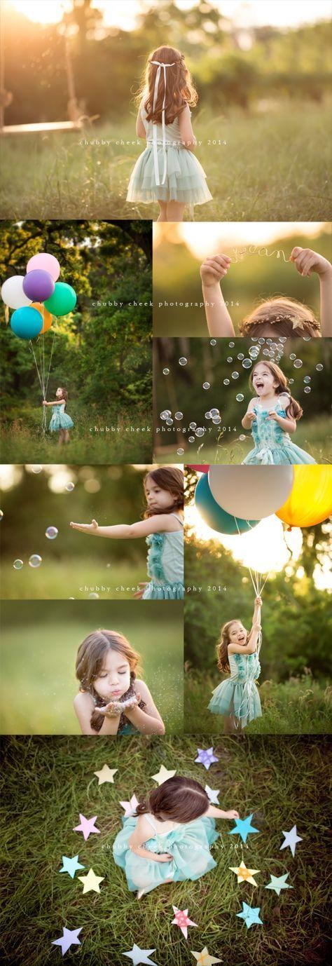 Globos, burbujas, brillos y estrellas.