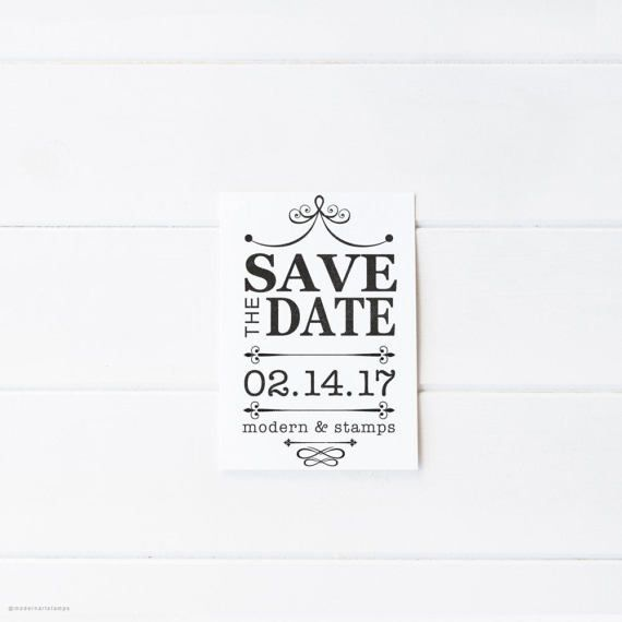 Wedding Rubber Stamping.Save The Date Stamp Custom Rubber Stamps Wedding Stamps By