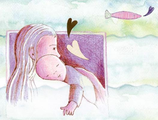Mother and child... Moeder en kind... 'Zus en ik illustraties'