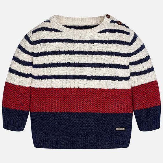MAYORAL BABY BOY STRIPED SWEATER