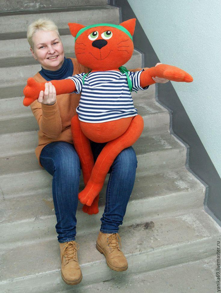 Купить Рыжий кот Зефир - сшито на заказ - кот, котик, рыжий, оранжевый, апельсиновый