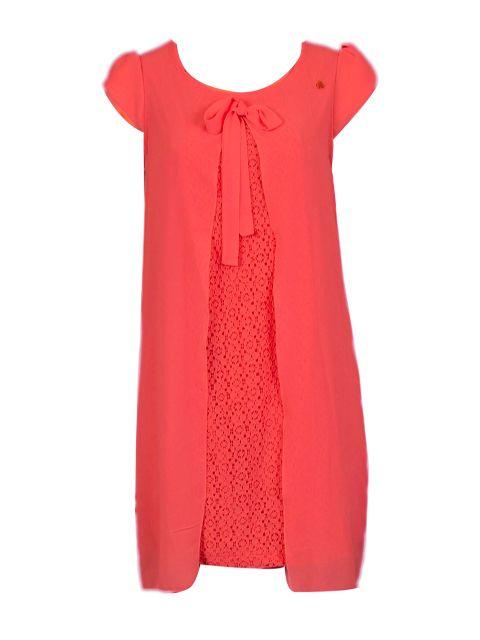 Rode jurk met kant - Korte jurken - BoBo Tremelo
