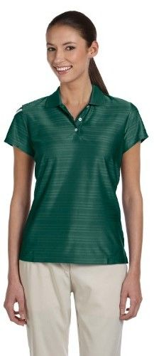 adidas Ladies ClimaCool Mesh Polo Shirt. A135 XX-Large Forest / White