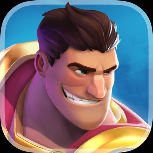 Work for iOS and Android game 'Gladiator Heroes'. Job was to create Splash and icons based on low poly models provided