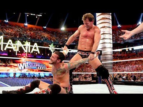 WWE Singles match - CM Punk vs Chris Jericho - WWE Championship WrestleMania 28 [WWE Pro Highlights]