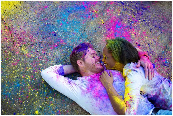 color chalk fight engagement session Kellie + Collier | Engaged » elle Danielle