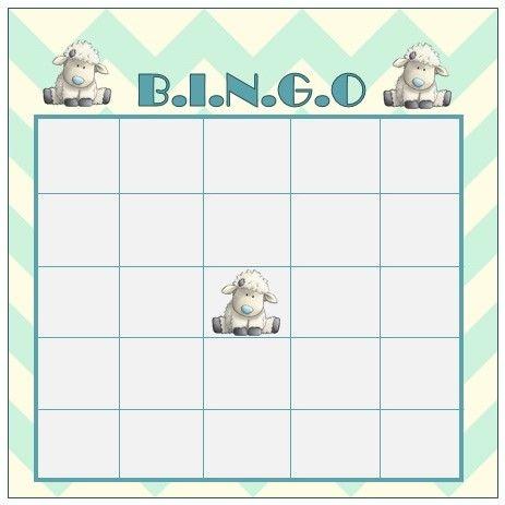 Babyshower Game Bingo Card Design