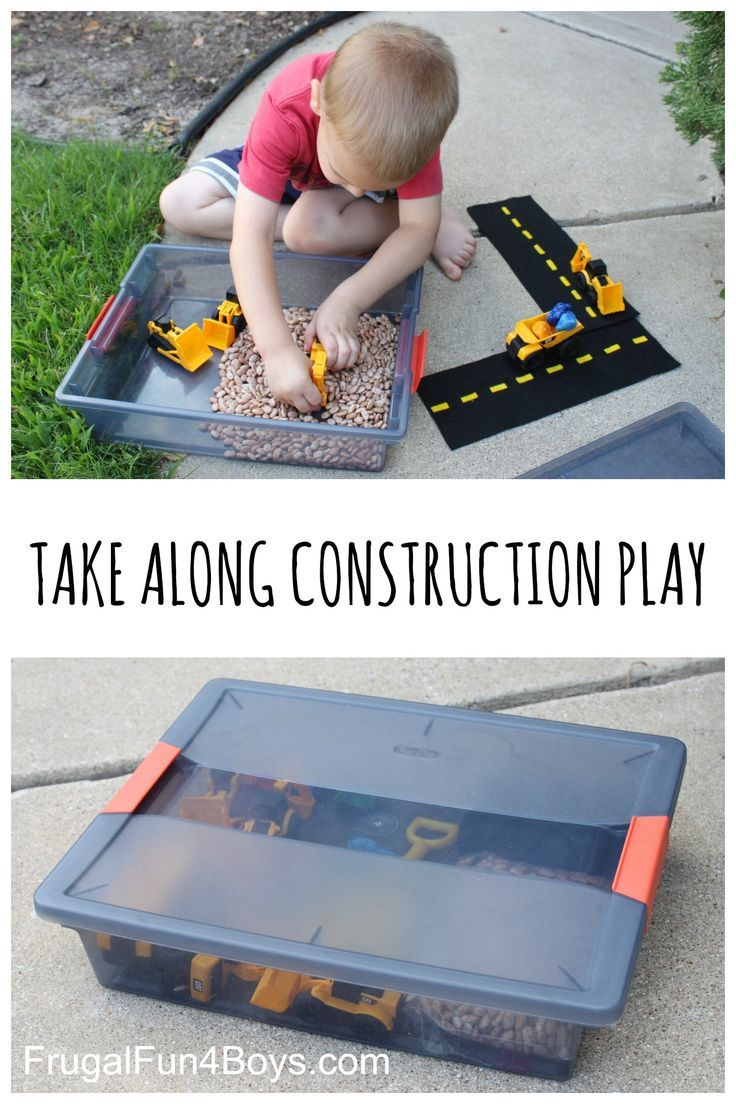Take Along Construction Play Set - Perfect for preschoolers - Great idea for Indoor or Outdoor Play