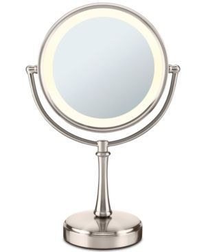 Conair Touch Control Double-Sided Lighted Makeup Mirror - Satin Nickel