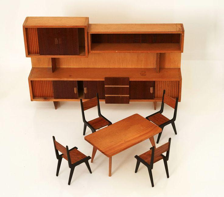 Stanza da pranzo anni 70 casa per bambole 1970s vintage furniture for doll house