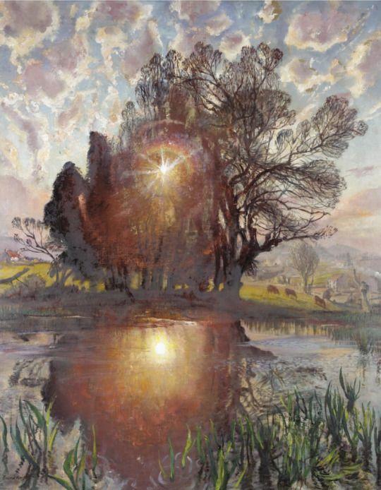 Setting Sun, Dame Laura Knight. (1877 - 1970)