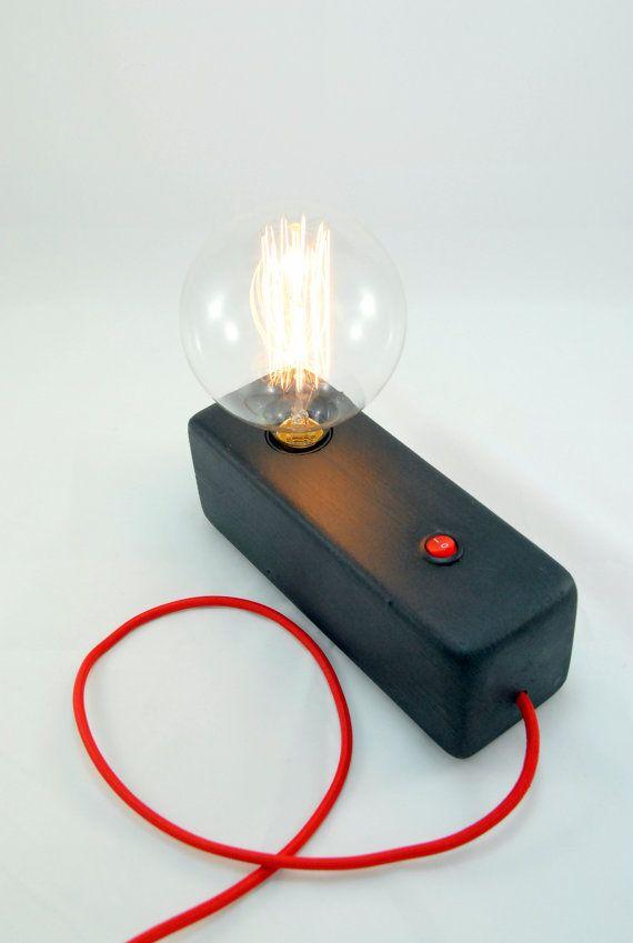 Wood Modern Handmade Table Lamp