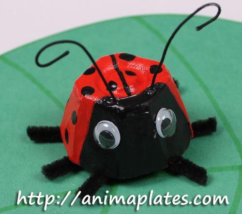 Egg+carton+ladybug+craft