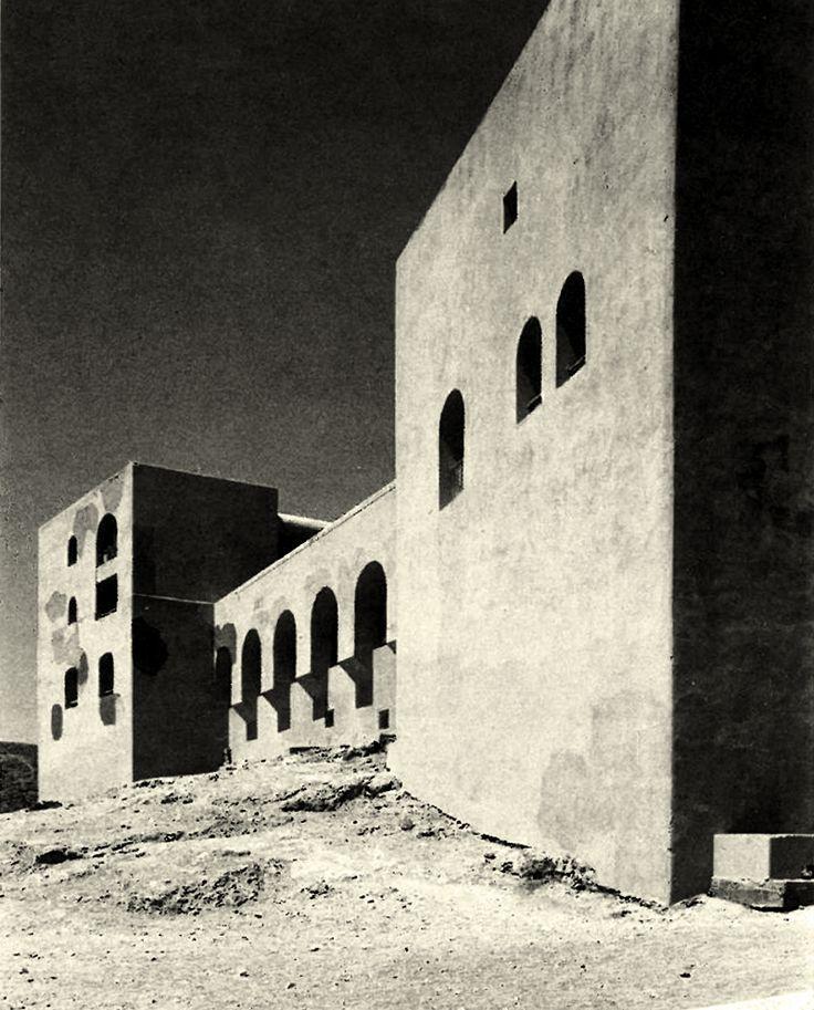 Hotel M'Zab (ex-Rostémides) Ghardaïa, Algeria; 1970-71  Fernand Pouillon