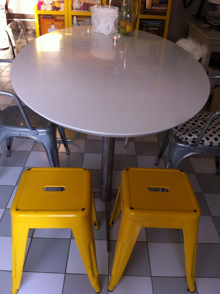 10 beste idee n over gele stoelen op pinterest gele stoelen interieurs en slaapkamers - Stoelen tolix ...
