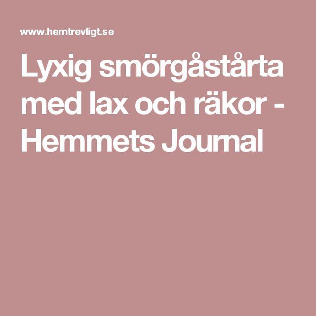 Lyxig smörgåstårta med lax och räkor - Hemmets Journal