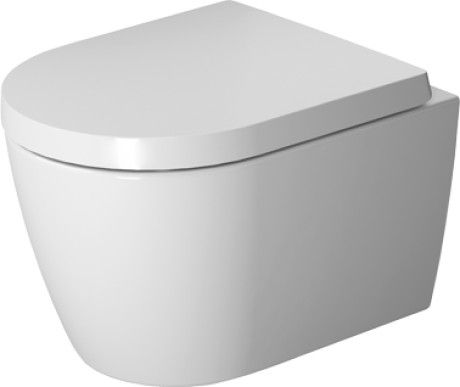 ME by Starck Toilet wall-mounted Compact Duravit Rimless® #253009 | Duravit
