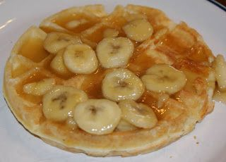 Little Bit of Everything: Raised Waffles with Warm Brown Sugar Bananas