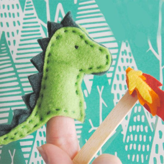 How to make a dragon finger puppet with felt.