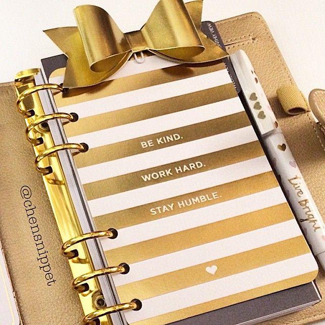 Beautiful gold leather planner. Love love love it ✨✨ @kikkik_loves | Use Instagram online! Websta is the Best Instagram Web Viewer!