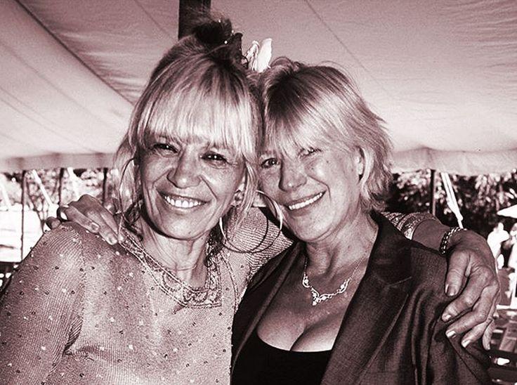 Marianne Faithfull and Anita Pallenberg at Angela Richards' wedding, 1998. The…