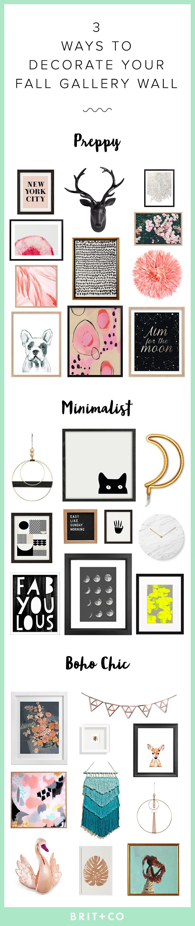 3 Ways To Update Your Gallery Wall For Fall Boho Roomcolor