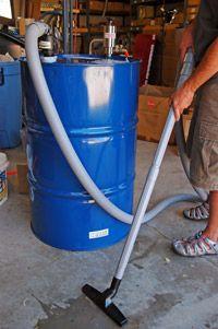 Vortex Drum Pump turn a 55 gallon drum into an industrial vacuum. Vacuum sludge, slurry, liquids and chips