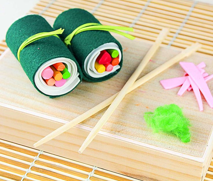Craft this cute sushi-style crayon holder | Fiskars: