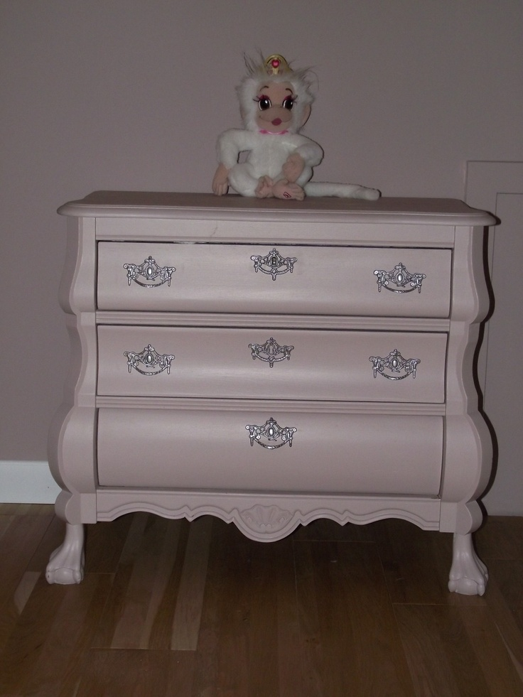 Old cupboard painted with chalk paint.