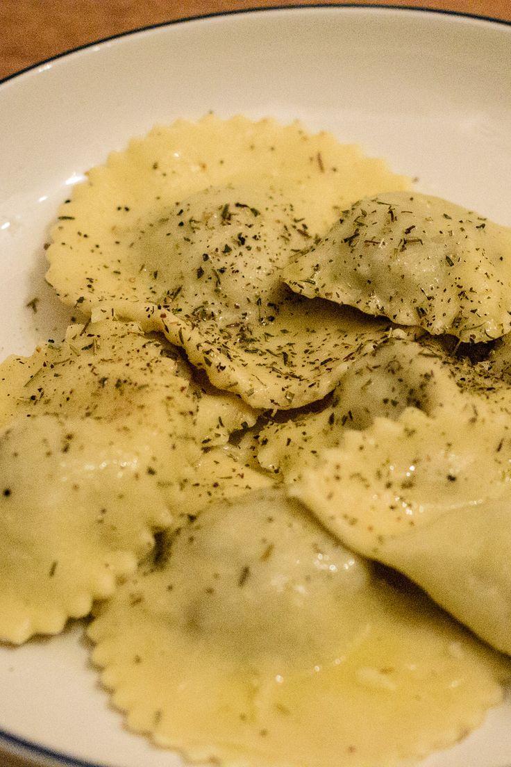 Mushroom ravioli with full instructions on how to make homemade pasta!