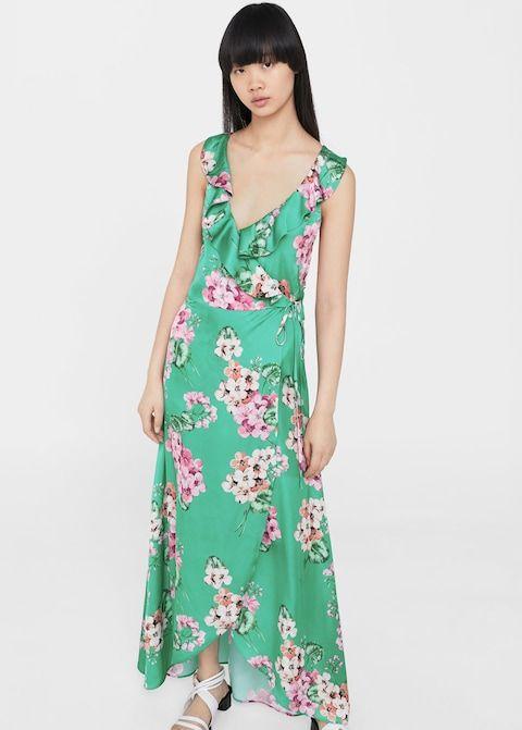 Lejąca sukienka w kwiaty
