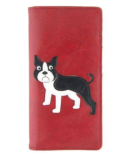 LAVISHY Red Boston Terrier Large Wallet | zulily