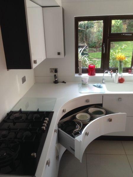 15 best modern curved kitchens milton keynes images on pinterest