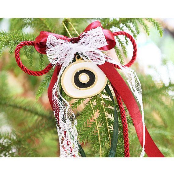 christmas lucky charm greek evil eye christmas decoration