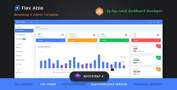 About Flex Able? Flex Able is the most advance Bootstrap 4 Admin