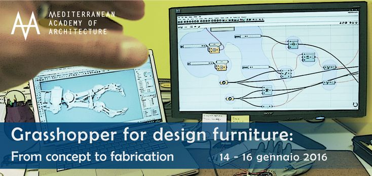Medaarch – Grasshopper for design furniture: dal 14 al 16 gennaio 2016 al Mediterranean FabLab