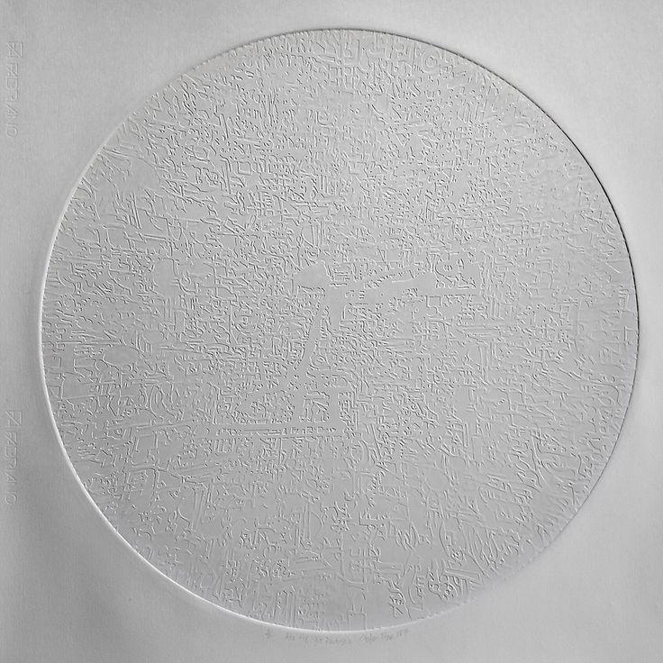 Stefan Blom | 'into the light fantastic' 580mm diameter, embossed on cotton paper.