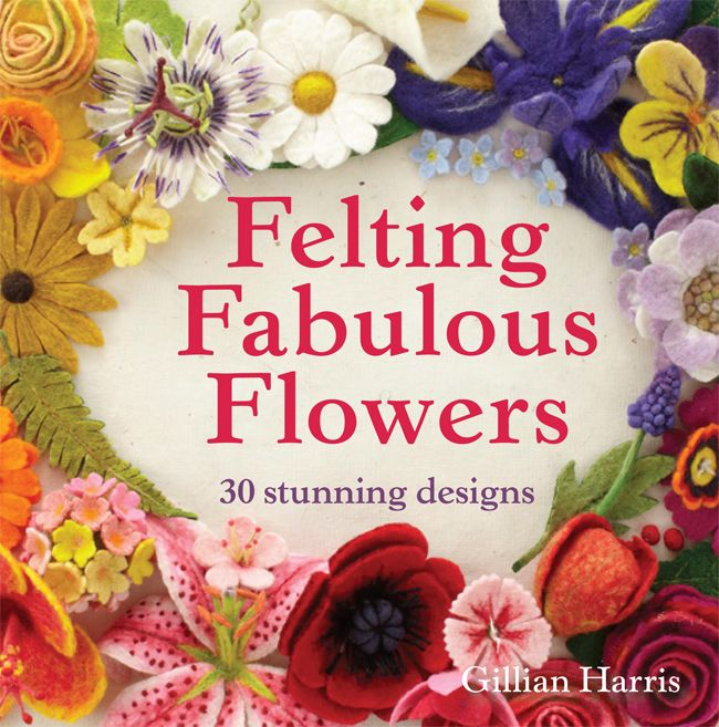 My latest book (published July 2014) all about felting fabulous flowers! Check out the signed copies on our website.