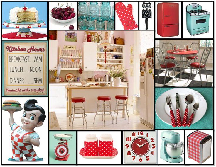 red/aqua kitchen stuff