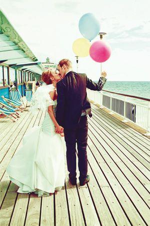 An English seaside wedding.