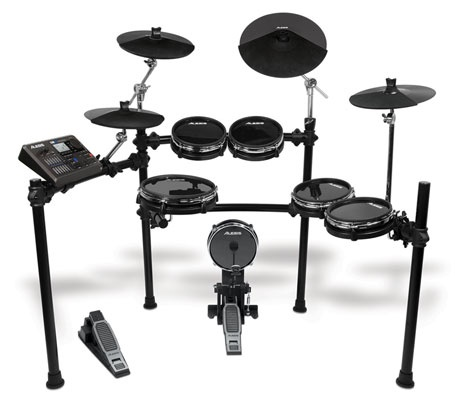 The Alesis DM10 Studio Kit Electronic Drum Set  americanmusical.com    The Alesis DM10 Studio Kit is a professional, six-piece electronic drum set with natural-feeling RealHead drum pads, low-noise DMPad Cymbals, the groundbreaking DM10 drum module, and a compact, flexible StageRack.