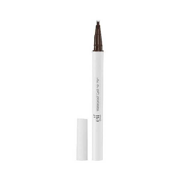 e..f. Triple Tip Waterproof Eyeliner Pen - Coffee ($2) ❤ liked on Polyvore featuring beauty products, makeup, eye makeup, eyeliner, brown, brown eye makeup, winged eyeliner, brown eye liner, waterproof eyeliner and e.l.f.