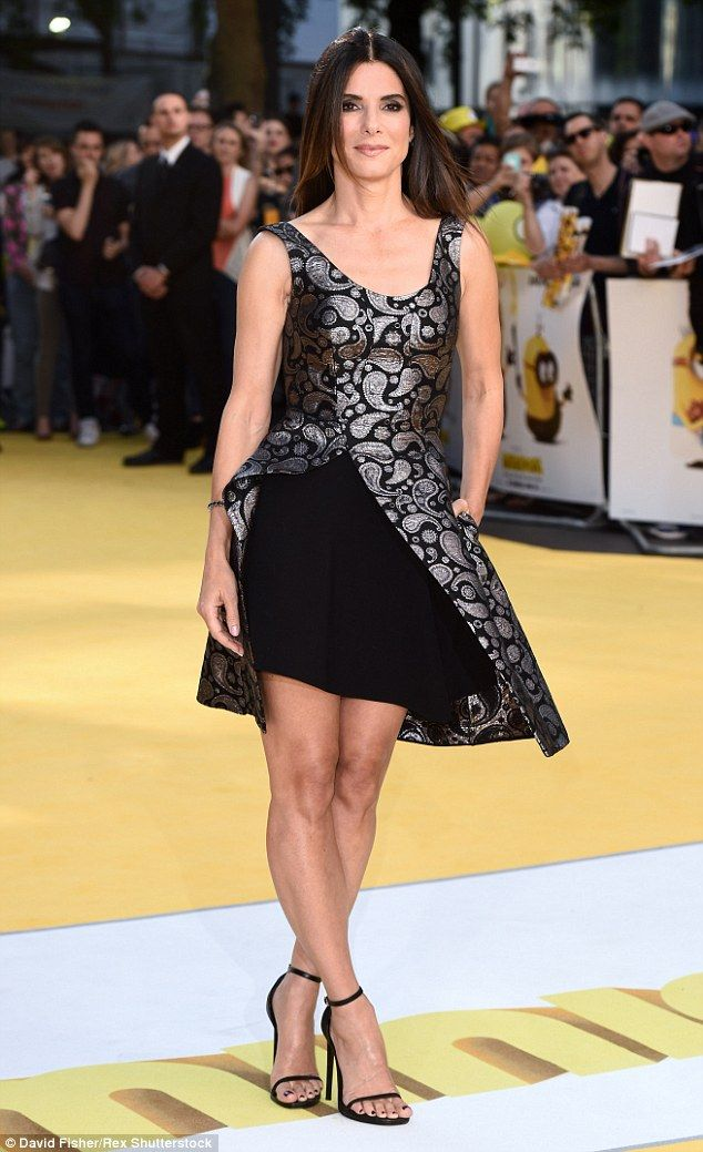 Flawless! Sandra Bullock was the definition of the word sensational as she arrived for the world premiere of the Minions movie in London on Thursday