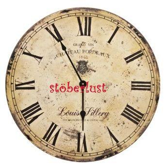 Bügelbilder - Bügelbild Uhr - Zifferblatt - shabby 1,75 € - ein Designerstück von vichylein- bei DaWanda